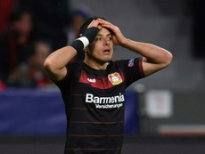 Chicharito says he wants to stay in Leverkusen. AFP