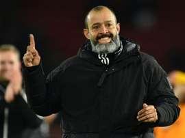 Nuno pode sair do Wolves para treinar o Atlético de Madrid. AFP