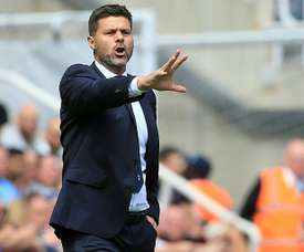 Spurs manager Pochettino during Saturday's match against Newcastle. AFP