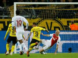 Alcacer was on target again for the German side. AFP