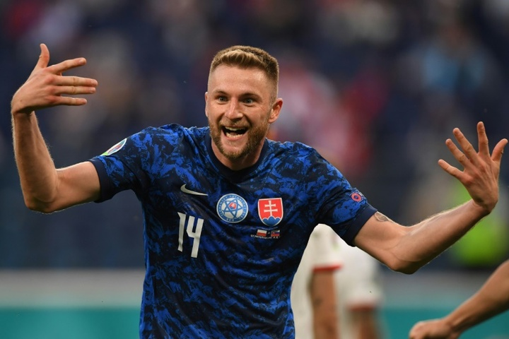 Skriniar regala la vittoria allo Slovacchia. AFP