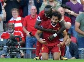 O Liverpool bateu o Newcastle por 2-0. AFP