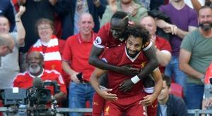 Salah e Mané têm estado em destaque no Liverpool. AFP