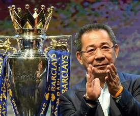 Leicester va rendre hommage à son ancien président. AFP