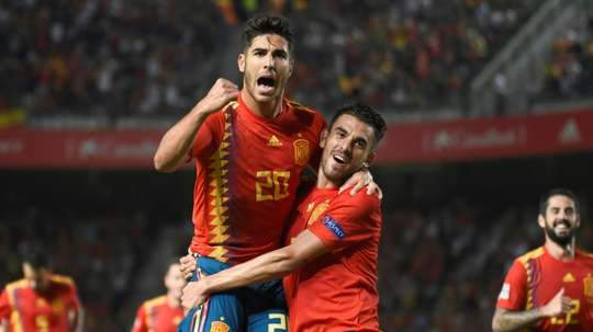 Marco Asensio impressed as Spain beat Croatia 6-0 last time out. AFP