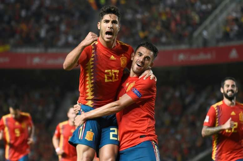 Asensio se estrenó como goleador con la Selección Española. AFP