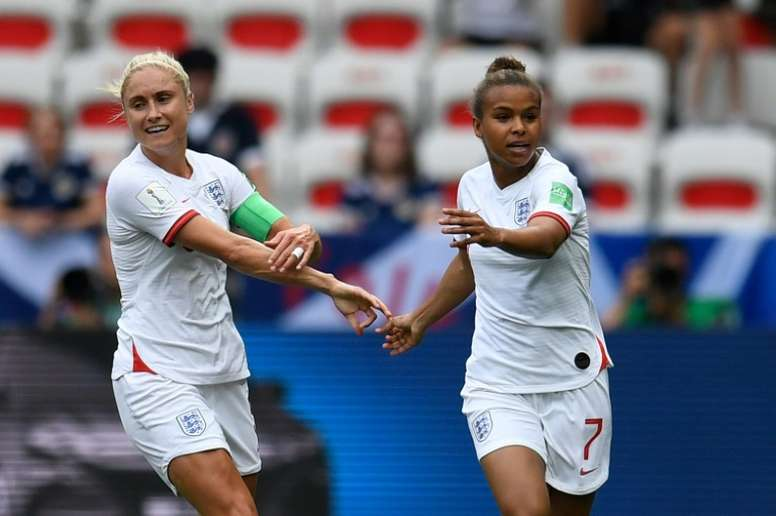 Parris put England ahead from the spot. AFP