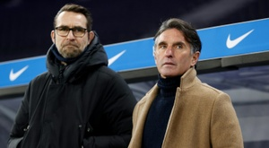 Hertha Berlin have sacked Labbadia (R) and Preetz (L). AFP