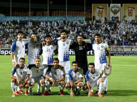 Kuwaits starting eleven pose for a group picture prior to their AFC qualifying football match for the 2018 FIFA World Cup between Kuwait and Lebanon on October 13, 2015 at the Kuwait Sports Club Stadium in Kuwait City