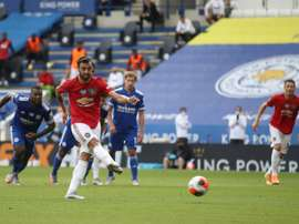 Manchester United beat Leicester 2-0. AFP