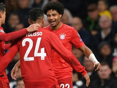 Serge Gnabry scored four second-half goals as Bayern Munich embarrassed Tottenham 7-2. AFP