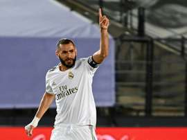 Karim Benzema scored the first in Real Madrid's 2-0 win versus Alaves. AFP