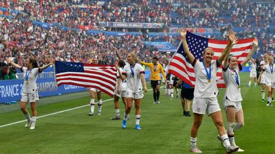 The World Cup final win has earned praise from all walks of American society. AFP