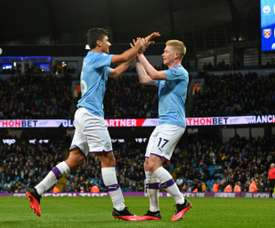 Rodri and De Bruyne gave Man City a comfortable win over West Ham. AFP