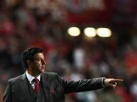 O Benfica termina amanhã o campeonato, que já venceu, no Estádio do Bessa. AFP