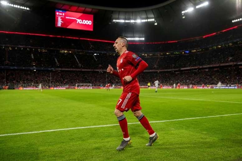 Ribéry deja el Bayern a final de temporada. AFP