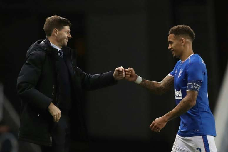 Gerrard leads Rangers' revival as Celtic crumble. AFP