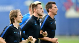 Modric y Rakitic, citados por Croacia. AFP