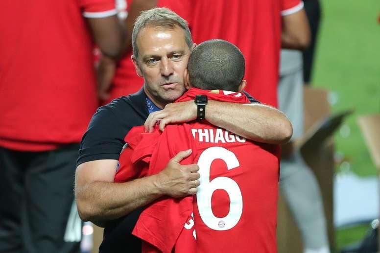 Thiago habló del futuro de Thiago y Alaba. AFP