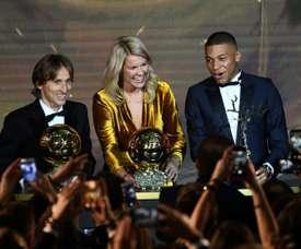Modric y Mbappé se deshicieron en elogios. AFP