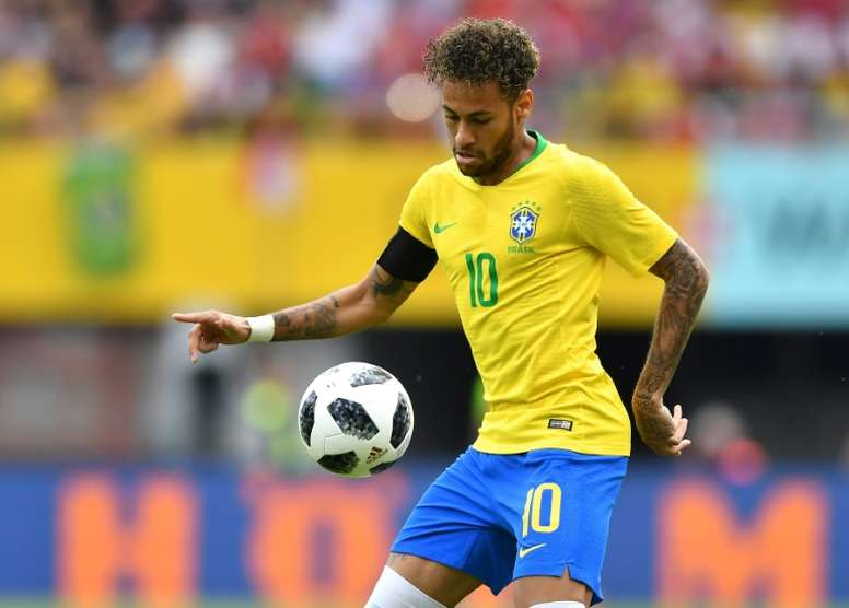 Neymar endured a particularly physical game against Austria. AFP