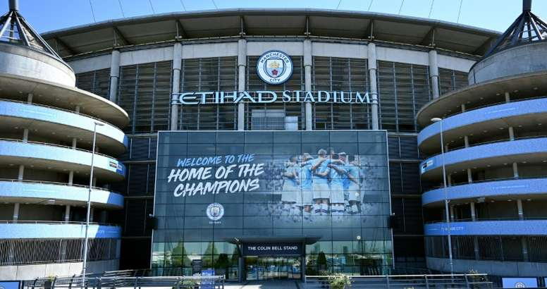 Man City's appeal against their UEFA ban will be heard in early June. AFP