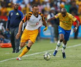Nurkovic (L) netted in Kaizer Chiefs' win over Cape Town City. AFP