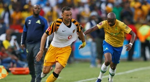 Kaizer Chiefs and Samir Nurkovic (L) were beaten by Bloemfontein Celtic. AFP