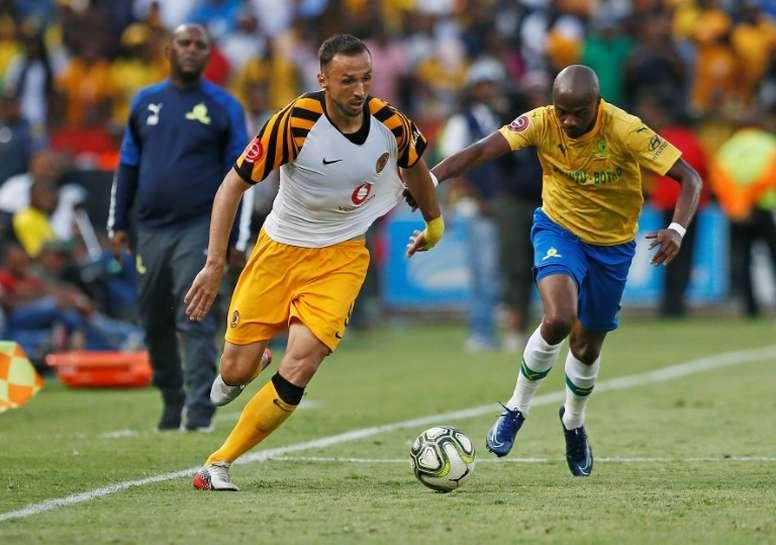 Nurkovic got a brace in Kaizer Chiefs' 4-0 victory. AFP