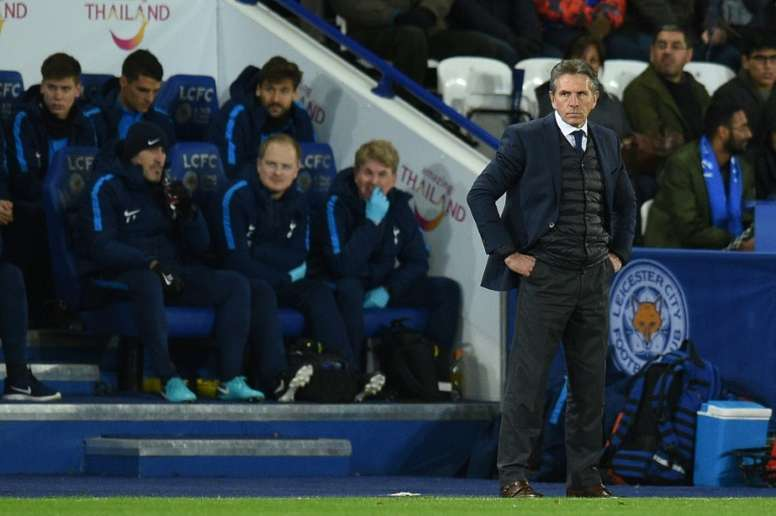Maguire's late goal sparked delirium on the Leicester bench. AFP