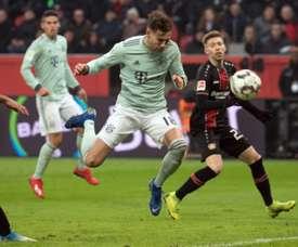 O Bayern leva a virada em Leverkusen. AFP