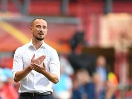 Mark Sampson has been appointed caretaker manager of Stevenage. AFP