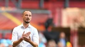 Mark Sampson has been appointed caretaker manager of Stevenage. AFP