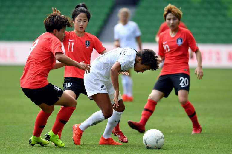 New Zealand will play in the Women's World Cup this summer. AFP
