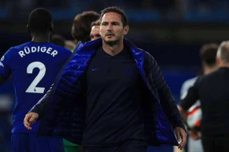 Lampard não está feliz com a forma de Kepa. AFP