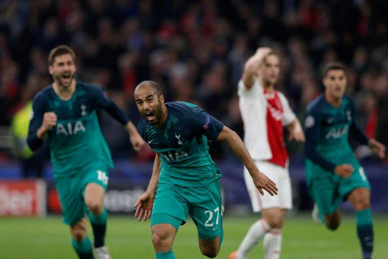 Lucas Moura's hat-trick sents Tottenham through to the final. AFP