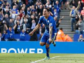 Ulloa celebrating a goal. AFP