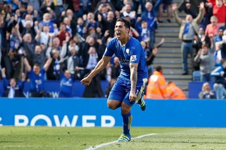 Ulloa celebrating a goal. AFP