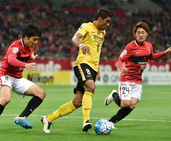 Paulinho rejoined Guangzhou Evergrande for £50m this season. AFP