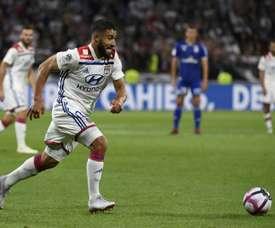 Fekir anotó uno de los goles del Lyon. AFP