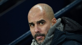 'Hats off' - The Manchester City manager concedes Liverpool deserve their lead. AFP