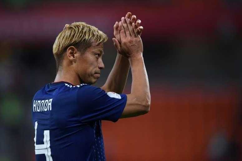 Keisuke Honda podría irse de Botafogo. AFP