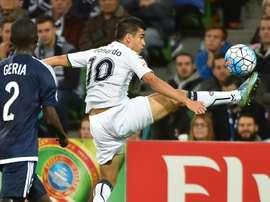 Gran gol en la AFC Champions League de libre directo. AFP