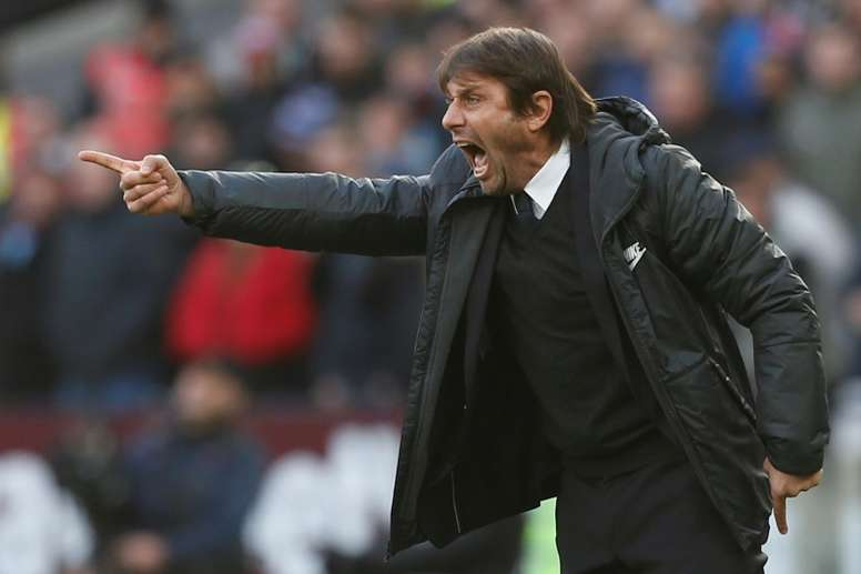 Conte's side can move joint-second in the league standings with a win over Southampton tomorrow. AFP