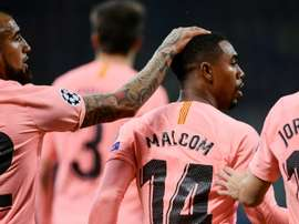 Malcom scored a vital goal for Barcelona. AFP