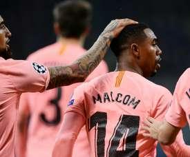 Malcom scored a vital goal for Barcelona. AFP