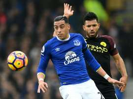 Everton could look to offload the defender. AFP