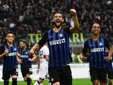 Gagliardini scored twice as Inter cruised to victory. AFP