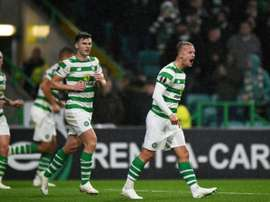 Griffiths pictured in the Europa League. AFP