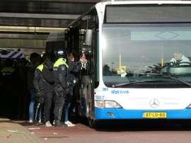 Dutch police arrest over 300 Lille fans ahead of Ajax game. AFP
